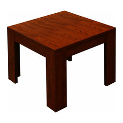 "Boss Chairs - Boss Chairs Boss Square End Table in Mahogany - 22"" end table in rich Mahogany finish."