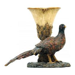 Sterling Industries - Autumn Pheasant Planter - Autumn Pheasant Planter