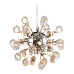 Gallery - Gallery T40-363 Modern 6 Light 1 Tier Crystal Mini Chandelier - Features: