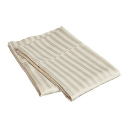 400 Thread Count Egyptian Cotton Standard Ivory Stripe Pillowcase Set - 400 Thread Count Egyptian Cotton Standard Stripe Ivory Pillowcase Set