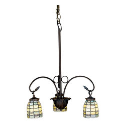 Meyda Tiffany - Meyda Tiffany Sea Scallop 3-Light Tiffany Chandelier X-31472 - Cool lines and suave comfort form the basis of this contemporary sea scallop 3-light Tiffany chandelier. The elegant form soothes the mind and it provides a bright and friendly shine for your bathroom, hacienda, dining room, or living room. The finish is made to last and is sure to please and get people talking.