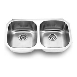 YOSEMITE HOME DECOR - Yosemite Home Decor MAG502 18-Gauge Stainless Steel Undermount Double Bowl Kitch - These high quality Yosemite sinks are a heavy gauge, type 304 (18/8), surgical grade, stainless steel for maximum durability - 18-Percent chromium (for shine) and 8-Percent nickel (for rust resistance). Stainless steel is an extremely durable surface; it can, however, be scratched or scuffed. When scuffing does occur, please remember that this is normal and the effect will become uniform with age. The high quality stainless steel does not lose its attractive shine.