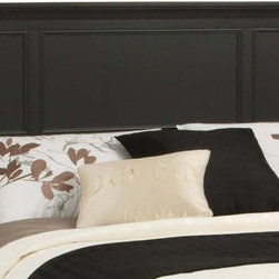 HomeStyles - Queen Headboard in Ebony Finish - Raised panels on the headboard. Headboard will fit most full bed frames. Made from Asian hardwoods, poplar solids and engineered wood. Made in Indonesia. 64.75 in. L x 2.5 in. W x 52 in. H. Assembly InstructionsThe Bedford queen headboard is an economical solution for a bedroom begging for a new look.
