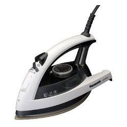 Panasonic - Steam Iron w Spray Blk Wht - 1500 Watt Steam Iron with Black & White finish  Power Silver Titanium Curved Non-Stick Soleplate  3-Way Auto Shut-Off  Electronic Temperature Control  Jet of Steam / Self Cleaning  Vertical Steam  Steam Vents - Front side only.  This item cannot be shipped to APO/FPO addresses. Please accept our apologies.