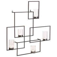 contemporary wall sconces by CB2