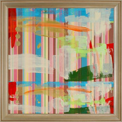 Paragon Decor - Color Splash Artwork - Exclusive Hand Painted Mixed Media - Mounted on Board