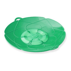 Kuhn Rikon Spill Stopper Set Of 2 Green - Tired of pots boiling over and making a mess on your stovetop? Use the Kuhn Rikon Spill Stopper and never worry about pots boiling over again! Designed in Germany our Spill Stopper can be used as both a lid and a splatter guard. Made of heavy silicone that is heat resistant up to 400° F. Set includes 2 stoppers.