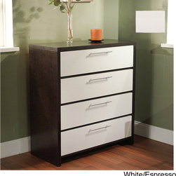 Simple Living - Simple Living Four-Drawer Contemporary Chest - The Four Drawer Chest is composed of engineered wood and adds a level of sophistication to any room. The chest measures 38 inches high x 35.5 inches wide x 15.25 inches deep.