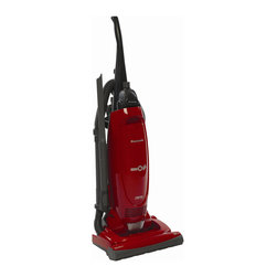 Panasonic - Panasonic MC-UG471 Bag Upright Vacuum Cleaner w/Air Turbine, Pepper Red - Panasonic's MC-UG471 12 Amp Upright Vacuum with Cord Reel features a 15 inch cleaning path and on-board tools. The unit automatically adjusts to the proper setting for just about any carpet height, while its HEPA filtration system captures dust, allergens, and small particles, so only clean air gets expelled into the home. The vacuum's motor-protection system channels dust and dirt particles directly into the vacuum bag, promoting long life and more efficient cleaning for the fan and motor.12 amp motor with motor protection system|15 inch cleaning path, auto carpet height adjustment|HEPA filter, paper dust bag|On/Off switch on body|24 foot power cord with automatic cord reel|12.5-foot attachment reach|QuickDraw tools on-board: 2 standard wands, dusting brush, crevice tool|Air Turbine attachment on-board|Integrated convenient carrying handle|Designed for quiet operation|  panasonic| mc-ug471| mcug471| upright vacuum| cord reel| 12 amp| 15"