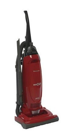 Panasonic - Panasonic Upright Vacuum Red - If you love going barefoot, you'll want this outstanding upright. It's got automatic height adjustment so you can easily breeze between different carpet piles and plushes, plus that powerful 12-amp motor to handle any mess. Done with your floor chore? Automatic cord rewind allows for instant storage.
