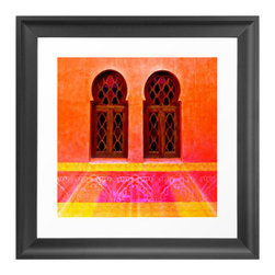 Window to Morocco Art Print - Have you ever wanted to travel to the exotic land of Morocco? Now you can (sort of). Just slip through the window of this art print and imagine your journey.