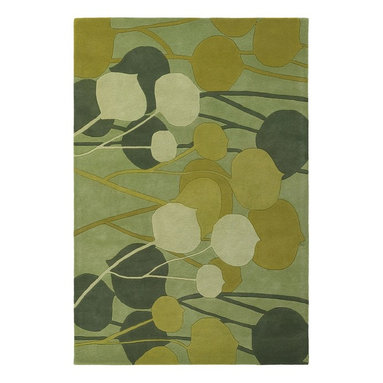 """Chandra - Contemporary Inhabit 7'9""""x10'6"""" Rectangle Green Area Rug - The Inhabit area rug Collection offers an affordable assortment of Contemporary stylings. Inhabit features a blend of natural Green color. Hand Tufted of New Zealand Wool the Inhabit Collection is an intriguing compliment to any decor."""