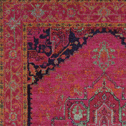 Oriental Weavers - kaleidoscope renaissance carpet (8x11) - The kaleidoscope collection is cross-woven of polypropylene and boasts up to 65 colors per rug. Designs showcase a dramatic array of bright, vibrant colors such as sunshine yellow, tangerine, hot pink and bright poppy while ultramarine blue, citron and chartreuse round out the assortment giving the playful colors more drama. In this collection more is definitely more; shade upon shade, texture upon texture, it offers an antiqued yet modern aesthetic.