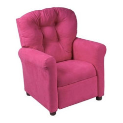 Traditional Microfiber Childrens Recliner - Pink - About Ace Bayou CorporationAce Bayou Corporation was founded in 1986 and has grown into a group of diverse lifestyle-focused divisions. They all feature innovative quality products at prices that allow everyone to enjoy the benefits. Their lifestyle furniture division features youth and adult casual furniture including unique bean bags video rockers recliners and special seating products. As a recognized innovator in these categories Ace Bayou provides products that fit your lifestyle.