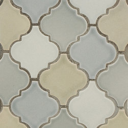 Mosaic Ideas for any space - Small arabesque in a soft color palette.