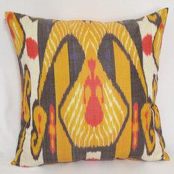 ikat pillow covers, ikat, ikat cushion, yellow ikat, blue ikat, red ikat, ikat - yellow ikat pillow cover