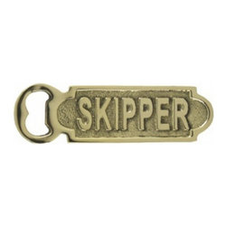 """Handcrafted Model Ships - Solid Brass Skipper Bottle Opener 5"""" - Brass Bottle Opener - The Solid Brass Skipper Bottle Opener 5"""" is the perfect addition to any nautical themed kitchen. This solid brass bottle opener will open even the most difficult of bottles with ease. This bottle opener is fully functional and a great gift for the true nautical enthusiast in your life."""