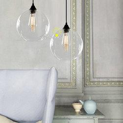 Modern Simple Orb Clear Glass Pendant Lighting - Modern Simple Orb Clear Glass Pendant Lighting