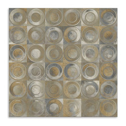 "Art and Sculpture Design - Modern Interior ""Rustic"" Canvas Print, 34x34 - Art Prints in the Modern Contemporary style collection convey a more modern interior design look. Some use bold design cues, others have a more subtle design."