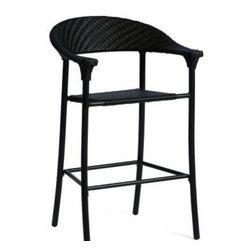 Woodard Barlow Stationary Bar Stool - Our All Weather Wicker Barlow Bar Stool by WoodardWicker Bar Chair
