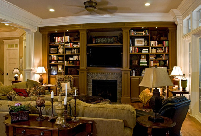 Eclectic Family Room by Blue Sky Building Company