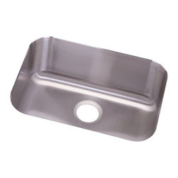"""Dayton - Elkay DXUH2115  Dayton Undermount Sink - Elkay's DXUH2115 is a Dayton Undermount Sink. This Dayton sink is constructed of 18-gauge type 301 nickel-bearing stainless steel, and can be mounted under almost any surface. It features a 3-1/2"""" drain opening and an 8"""" bowl depth."""