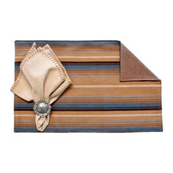 Silverado Home - Hudson Cobalt Placemat - Sold in Sets of Four: