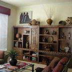 Southwestern style display cabinet -
