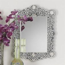 Zodax IN-471 Taj Mother of Pearl Inlay Mirror - Decor Universe