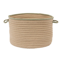 "Colonial Mills, Inc. - Boat House, Olive Utility Basket, 14""X10"" - Hold everything. The braided polypropylene of this handled basket will help you hold, hide and haul just about everything indoors or out. It's stain and fade resistant in classic, earthy colors for go-with-anything style and long-lasting beauty."