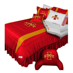 Store51 LLC - NCAA Iowa State Cyclones Bedding Set College Football Bedding Set, Twin - Features: