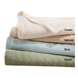 Premier Comfort - Premier Comfort Freshspun Cotton Blanket - Our FreshSpun cotton blanket is made from special quality cotton that is hand picked from the first bloom of cotton plants, creating a super soft blanket for your everyday use. This lightweight blanket is perfect for keeping the chill off in summer or as a layering piece during the coldest winter months. 100% COTTON