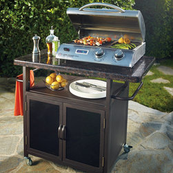Frontgate - Cook Number Electric Grill - Stainless steel construction. 7,700 BTUs of total cooking power. Reaches temperatures up to 500°F in about 10 minutes. Built-in temperature probe works with the 10 precision cooking settings to ensure perfect results every time. Removable drip tray and nonstick sear plate are dishwasher safe. This sleek and compact Cook Number Electric Grill is the perfect outdoor cooking solution for patios and balconies where open flames are forbidden. With 7,700 total BTUs, 10 precision cooking settings, and a built-in temperature probe (not shown), you'll be able to grill, sear, and roast your favorite foods to perfection. . . Reaches temperatures up to 500 degreesF in about 10 minutes. . . Can also be used indoors. 6 ft. cord; 120V. View Owner's Manual (PDF format).