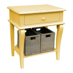 Trade Winds - New Trade Winds Side Table Yellow Painted - Product Details