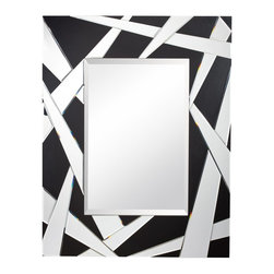 Kichler Lighting - Kichler Lighting Modern / Contemporary Rectangular Mirror X-46187 - This unique Cutting Edge mirror will make a distinctive impact in your home. Featuring angular details with a Black finish, this design is sure to create a bold statement in any space.