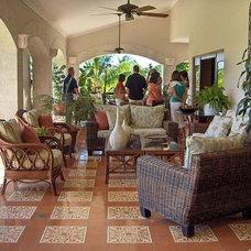 Mediterranean Porch by Villa Lagoon Tile