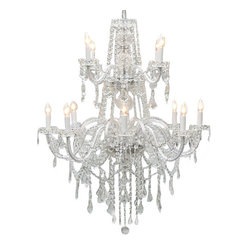 The Gallery - AUTHENTIC ALL CRYSTAL CHANDELIER CHANDELIERS LIGHTING - This is a clear-cut case of romance and beauty winning out over the forces of cookie-cutter lighting fixtures. Your new hand-cut crystal chandelier is designed and created in the tradition of the great European manor houses and palaces.