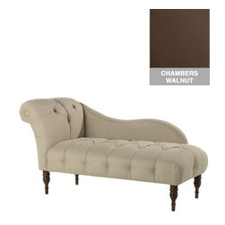 Home Decorators Collection - Custom Chaucer Upholstered Lounge - Comfortable and stylish, our Custom Chaucer Upholstered Lounge will transform the look of any room. Your choice of fabric adds visual interest and texture. Select from our range of top-quality fabric options to create a focal point for your space. Legs in espresso finish. Assembled to order in the USA and delivered in 4-6 weeks. Spot clean only. Some assembly required.