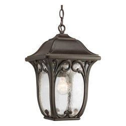 Progress Lighting - Progress Lighting P6501-84 Enchant Outdoor Hanging Light - A gracious cast pattern. Clear seeded glass with aluminum frame. Delicate, decorative paisley scrolled details.