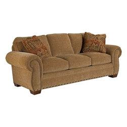 Broyhill Furniture - Cambridge Traditional Style Stationary Sofa - 5054-3 - Cambridge Collection Sofa