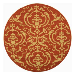 """Safavieh - Indoor/Outdoor Courtyard Round 5'3"""" Round Terracotta - Natural Area Rug - The Courtyard area rug Collection offers an affordable assortment of Indoor/Outdoor stylings. Courtyard features a blend of natural Terracotta - Natural color. Machine Made of Polypropylene the Courtyard Collection is an intriguing compliment to any decor."""