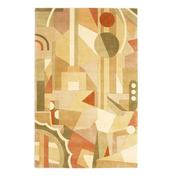 """Kas - Contemporary Signature Hallway Runner 2'6""""x8' Runner Beige Area Rug - The Signature area rug Collection offers an affordable assortment of Contemporary stylings. Signature features a blend of natural Beige color. Hand Tufted of 100% Wool the Signature Collection is an intriguing compliment to any decor."""
