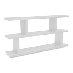 Moe's Home Collection - Miri Shelf Small White - Contemporary design. Bookshelf / room divider.