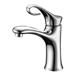 ALFI brand - ALFI brand AB1295 Single Lever Curled Bathroom Faucet, Brushed Nickel - The smooth and flowing lines of this faucet create a warm and inviting appearance. The slight curl in the handle not only makes it look good, but also permits easy operation of the tap with instinctive movement.