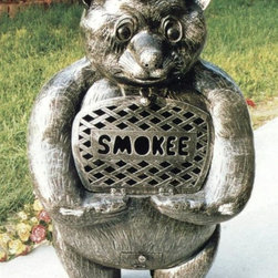 Oakland Living - Smokee Bear Chimenea Fireplace w Grill - Fire - Made of Rust Free Cast Aluminum Construction. Fire pits can fit three to five logs or use charcoal for grilling. Easy to follow assembly instructions and product care information. Stainless steel or brass assembly hardware. Fade, chip and crack resistant. 1 year limited. Hardened powder coat finish in Antique Pewter for years of beauty. Antique Pewter finish. Some assembly required. 27 in. W x 19 in. L x 44 in. H (120 lbs.)This Chimenea fire pit will be a beautiful addition to your patio, back yard or outdoor entertainment area. Adds beauty, style and functionality. Our Chimenea fire pits are perfect for any small space, or to accent a larger space.