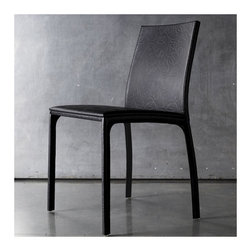 Luxo by Modloft - Vigo Side Chair - Synonymous with modern luxury and invites consumers to revel in a contemporary design-forward lifestyle. Luxo by Modloft offers consumers an entire lifestyle in which to live boldly and beautifully via its furniture collections and accessories. Made in Brazil using only environmentally sustainable materials, Luxo by Modloft delivers uncompromising quality with undeniable flair. Well Made. Well. Priced. Well Done. Features: -Dining chair.-Back and fully covered in natural leather.-Unique shape.-Please note: This item can not be cancelled after purchase due to the custom nature of the product..-Distressed: No.Dimensions: -Overall Product Weight: 19 lbs.