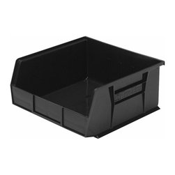 "Akro-Mils - Black Stackable Storage Bins, 5""- Set of 6 - AkroBins optimize your storage space. Control inventories, shorten assembly times and minimize parts handling. Heavy-duty polypropylene bins hang from Akro-Mils racks, panels, rails, and carts; securely stack atop each other and sit on shelving. AkroBins are unaffected by weak acids and alkalis. Sturdy, one-piece construction is water, rust and corrosion proof and guaranteed not to break. Autoclavable up to 250Degrees F."