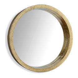 Kathy Kuo Home - Malibu Hollywood Coast Antique Gold Leaf Porthole Mirror - Could this be the perfect porthole mirror?  With a gorgeous gold leaf frame that creates a sense of additional depth in the reflection and a generous proportion, this large piece goes far beyond any nautical influence or silhouette and takes a space into the realm of pure elegance.