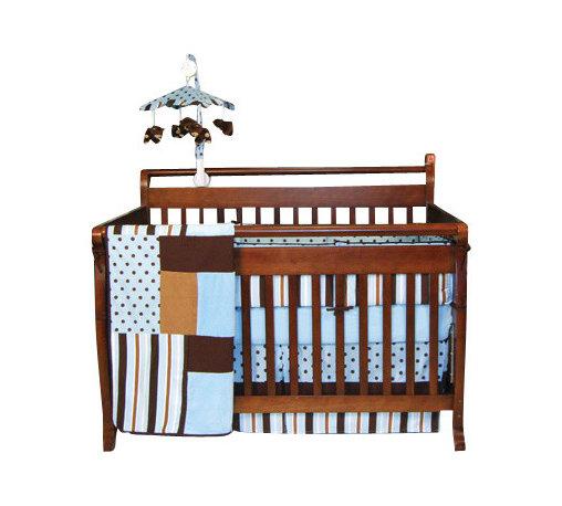 Trend Lab - Trend Lab Blue Max Crib Bedding Set - Blue Max Crib Bedding Set