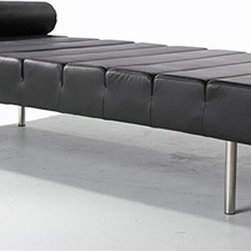 Fine Mod Imports - Classic Leather Daybed - Features: